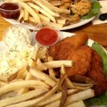 Halibut and Chips and Fried Oysters and Chips