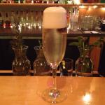 Blackberry Thyme Sparkler!!!!! Bubbly and delicious!!!!
