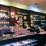 Candy and ice cream counter