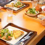 gazpacho, quiche & salad
