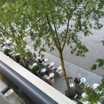restaurante, tirada da janela do meu quarto, em frente ao Pompidou