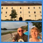 Blick vom Fester, an der schönen blauen Donau!