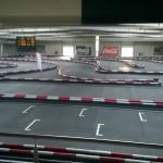Indoor Kart track view from Restaurant