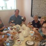 Even men and children enjoyed the tea party at Adorabelle.