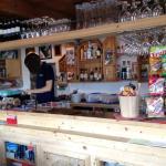 Bancone del bar del rifugio