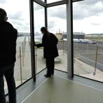 Inside looking down from Titanic Belfast Museum