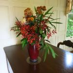 flower arrangement in the house
