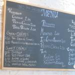 Maison Navarre menu board
