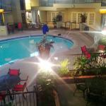View at pool from 2nd floor in Atrium