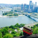 View from Duquesne incline above hotel