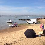 View from inside then out to the Jetty & across the River Deben to Bawdsey Quay