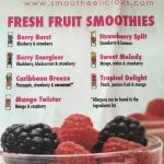 Our new smoothies