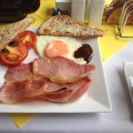 Our cooked breakfast from a larger choice of a Full English
