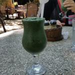 Green Spirulina smoothie... YUM!