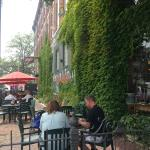 Nice patio dining option.