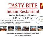 Buffet at Tasty Bite Restaurant