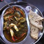 Crab masala with chapatis
