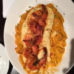 Maple Salmon and Shrimp and Grits