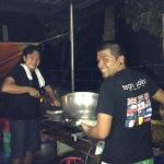 Nestor and Valentino cooking for 1000