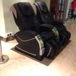 Massage chairs in the lobby, free shuttle service, and add ins to the Rice porridge at breakfast