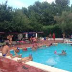 piscina durante la lezione di acquagym