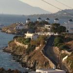 Vue de Mykonos depuis la Villa Margarita