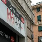 L'insegna della Caffetteria Ma Dai di Genova