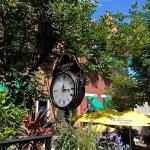 Clock in courtyard