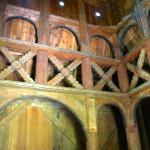 interieur staafkerk Borgund