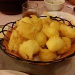 Sobremesa: Leite frito com leite condensado