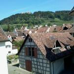 schöne Aussicht Hofzimmer zur Burg Hohenklingen