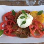 Mozzarella aux 4 tomates