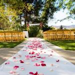 Walk down the aisle in a quiet, scenic area of Santee, California.