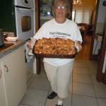 Margaret with her wonderful breakfast