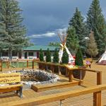 New decking around the teepee hot pools!