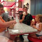 Family from NC enjoying some ice-cream!