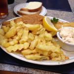 Really good haddock and chips