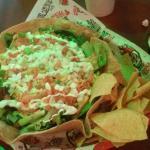 Delicious salads in hemp tortillas
