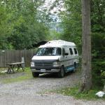 Decent campsite area for our van