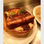Cumberland Sausage in a Giant Yorkshire Pudding