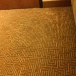 carpet in the room. must wear shoes at all times