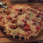 Pizza from the clay oven