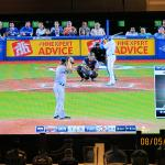 Catching a Baseball Game on the TV
