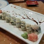Tokyo roll with light rice and a nice decoration