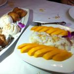 Deep Fried Banana and Sticky Rice