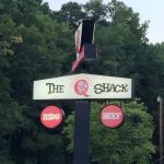 The Q Shack sign
