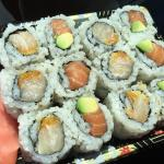 Spicy yellowtail roll & salmon & avocado roll.