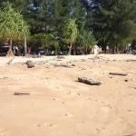 Пляж. Справа и слева от отеля можно найти убранный пляж.