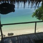 Uitzicht vanuit onze strand hut