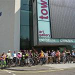Bike ride from Towner Art Gallery
